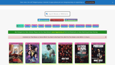 What Vegamovies.life website looks like in 2021