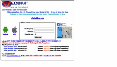 What Vinhhien2.quanlyoto.vn website looks like in 2021
