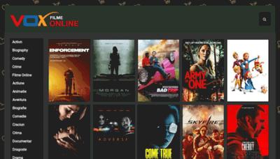 What Voxfilmeonline.biz website looks like in 2021