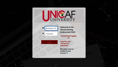 What Vle-uu.unicaf.org website looks like in 2021