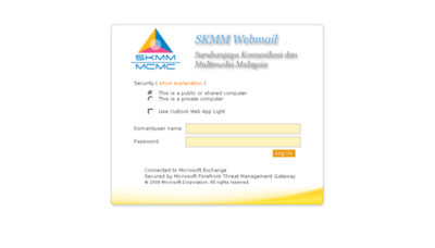 What Webmail.skmm.gov.my website looked like in 2014 (7 years ago)