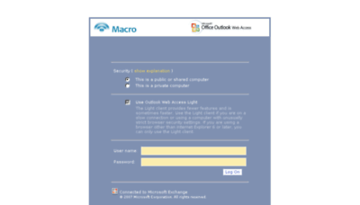What Webmail.macro.com.ar website looked like in 2016 (5 years ago)