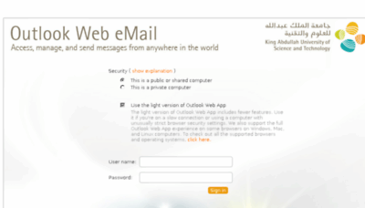What Webmail.kaust.edu.sa website looked like in 2016 (5 years ago)
