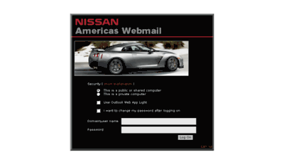 What Webmail.na.nissan.biz website looked like in 2016 (5 years ago)