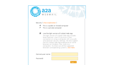 What Webmail.a2a.eu website looked like in 2017 (4 years ago)
