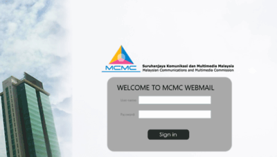 What Webmail.skmm.gov.my website looked like in 2018 (3 years ago)