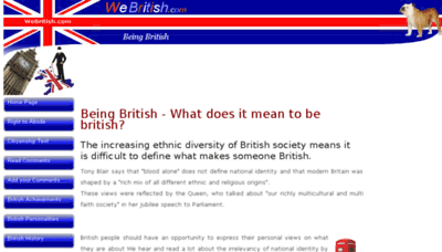 What Webritish.co.uk website looked like in 2018 (3 years ago)