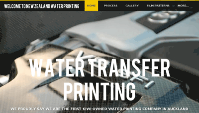 What Waterprinting.co.nz website looked like in 2018 (2 years ago)