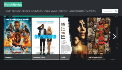 What Watchmovies.today website looked like in 2018 (3 years ago)