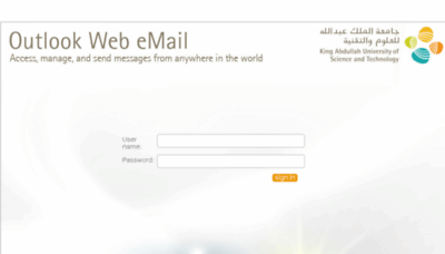 What Webmail.kaust.edu.sa website looked like in 2018 (3 years ago)