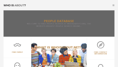 What Whoisabout.net website looked like in 2018 (3 years ago)