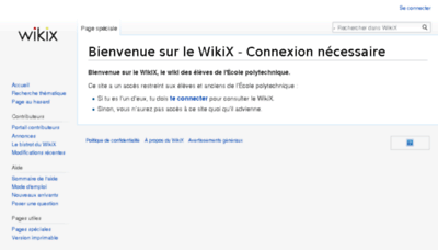 What Wikix.polytechnique.org website looked like in 2018 (2 years ago)