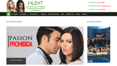 What Wlext.net website looked like in 2019 (2 years ago)