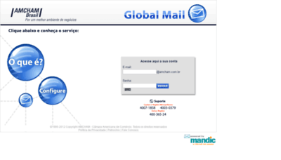 What Webmail.amcham.com.br website looked like in 2019 (2 years ago)