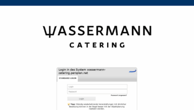 What Wassermann-catering.persplan.net website looked like in 2019 (1 year ago)