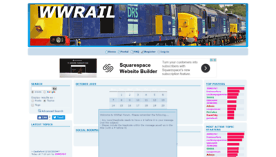 What Wwrail.net website looked like in 2019 (2 years ago)