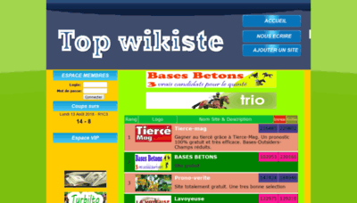 What Wikisite.info website looked like in 2019 (1 year ago)