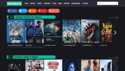 What Watchmovies.today website looked like in 2019 (1 year ago)