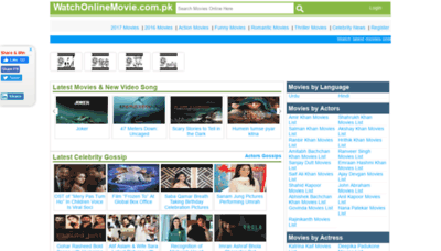 What Watchonlinemovie.com.pk website looked like in 2020 (1 year ago)