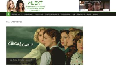 What Wlext.net website looked like in 2020 (1 year ago)