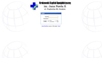 What Webmail.szpitaljp2.krakow.pl website looked like in 2020 (1 year ago)