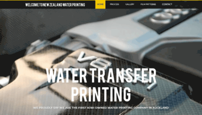 What Waterprinting.co.nz website looked like in 2020 (This year)