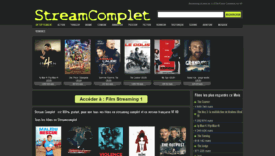 What Wwvv.streamcomplet.vip website looked like in 2020 (1 year ago)