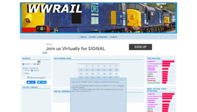 What Wwrail.net website looked like in 2020 (1 year ago)