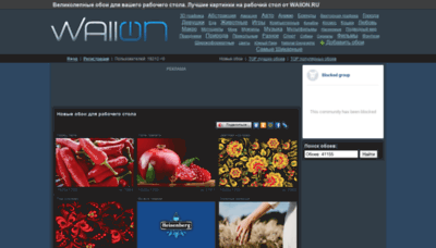 What Wallon.ru website looked like in 2020 (1 year ago)