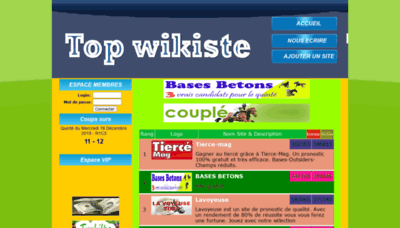 What Wikisite.info website looked like in 2020 (This year)