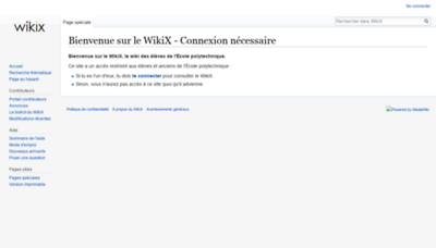 What Wikix.polytechnique.org website looks like in 2021