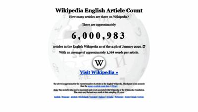 What Wikicount.net website looks like in 2021