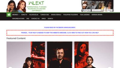 What Wlext.net website looks like in 2021
