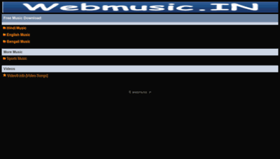 What Webmusic.live website looks like in 2021