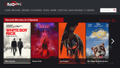 What Xmovies8.io website looked like in 2018 (2 years ago)