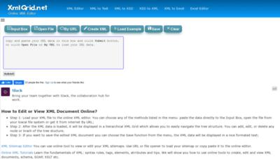 What Xmlgrid.net website looked like in 2020 (1 year ago)