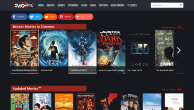 What Xmovies8.io website looked like in 2020 (This year)