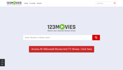 What Xmovies8.work website looks like in 2021