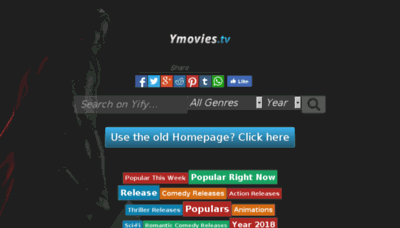 What Ymovies.tv website looked like in 2018 (3 years ago)