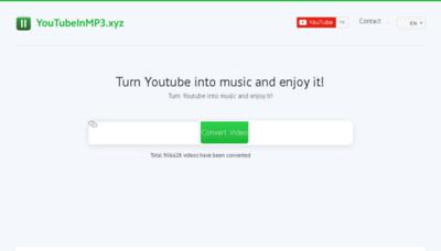 What Youtubeinmp3.xyz website looked like in 2018 (3 years ago)
