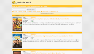 What Yerlifilm.mobi website looked like in 2018 (3 years ago)