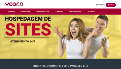 What Ycorn.com.br website looked like in 2019 (1 year ago)