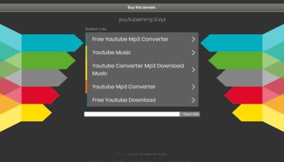 What Youtubeinmp3.xyz website looked like in 2020 (1 year ago)