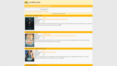 What Yerlifilm.mobi website looked like in 2020 (1 year ago)