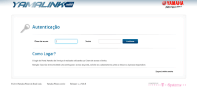 What Yamalink.com.br website looked like in 2020 (This year)
