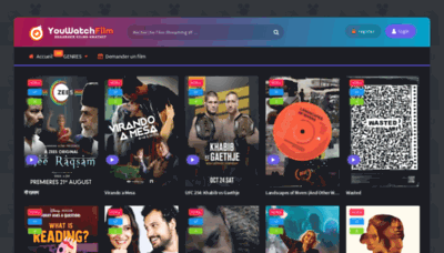What Youwatchfilm.net website looked like in 2020 (This year)