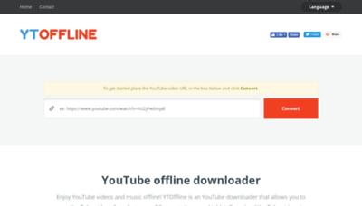 What Ytoffline.net website looks like in 2021