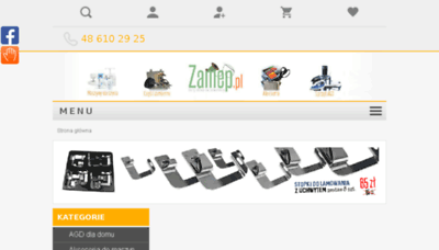 What Zamep.pl website looked like in 2018 (2 years ago)