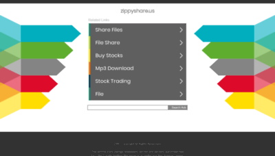 What Zippyshare.us website looked like in 2018 (2 years ago)