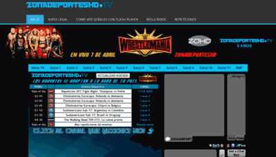 What Zonadeporteshd.tv website looked like in 2019 (2 years ago)